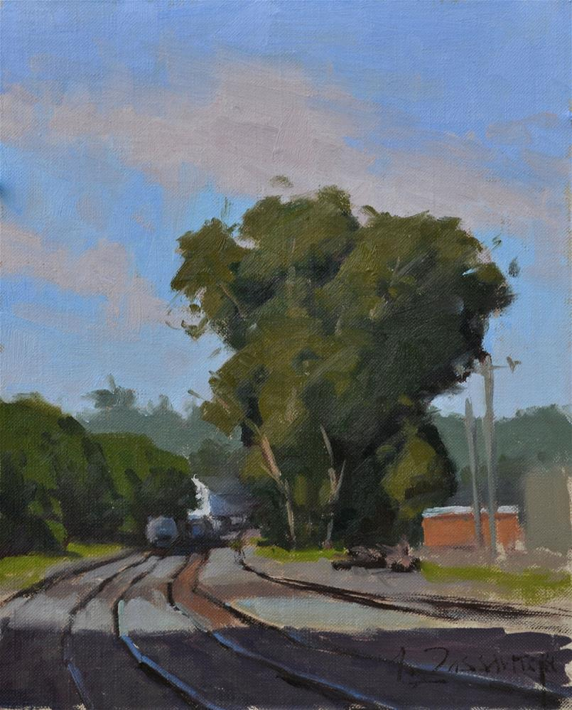 """By the Depot"" original fine art by Ivan Zassavitski"