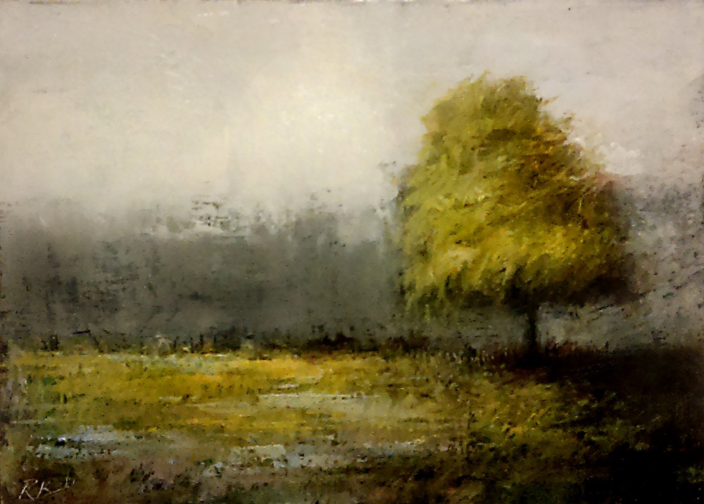 """A Tree in the Park"" original fine art by Bob Kimball"