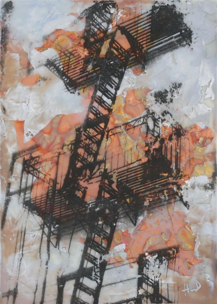 """Fire Escape NYC #4"" original fine art by Heather Douglas"