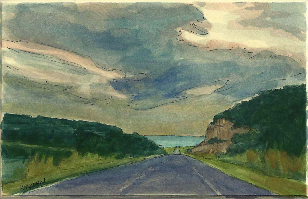 """Road Sketch 9"" original fine art by Rita Kirkman"
