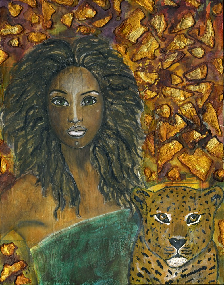 """Alongside her Spirit"" original fine art by Kali Parsons"