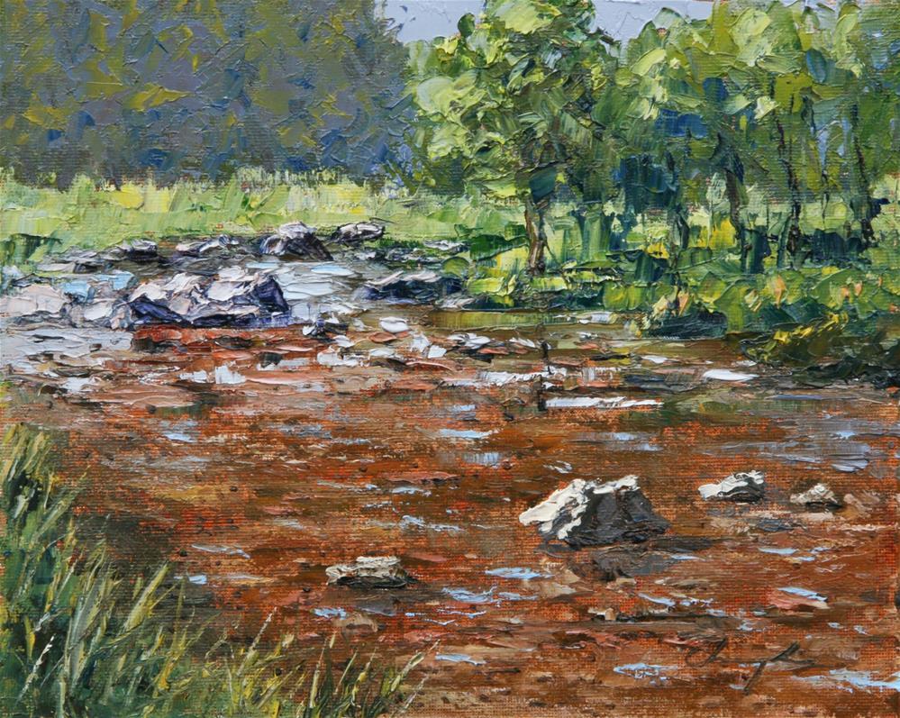 """Rocks in Water"" original fine art by Chuang Liu"