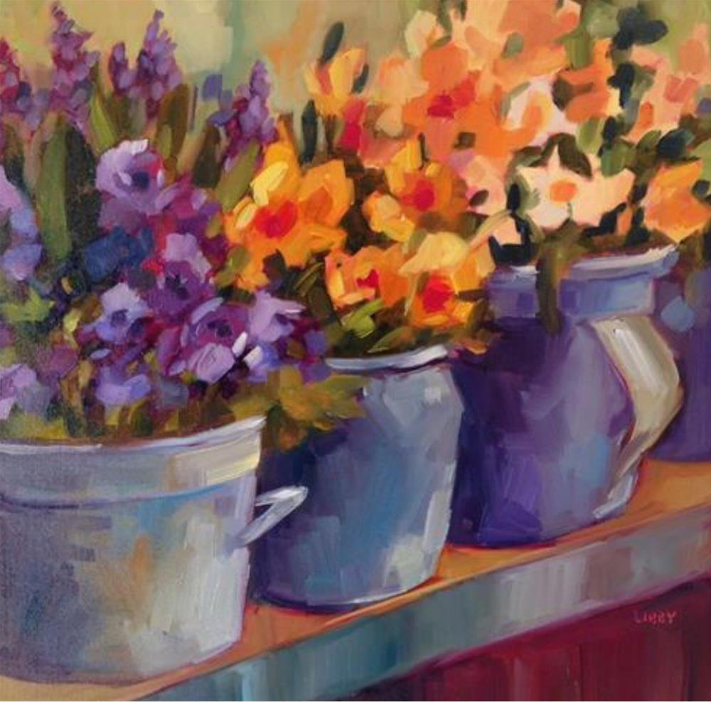 """Color Drama"" original fine art by Libby Anderson"