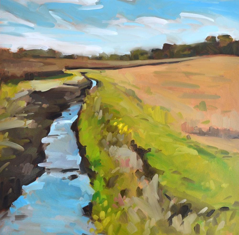 """Indiana Creekside"" original fine art by Jessica Green"