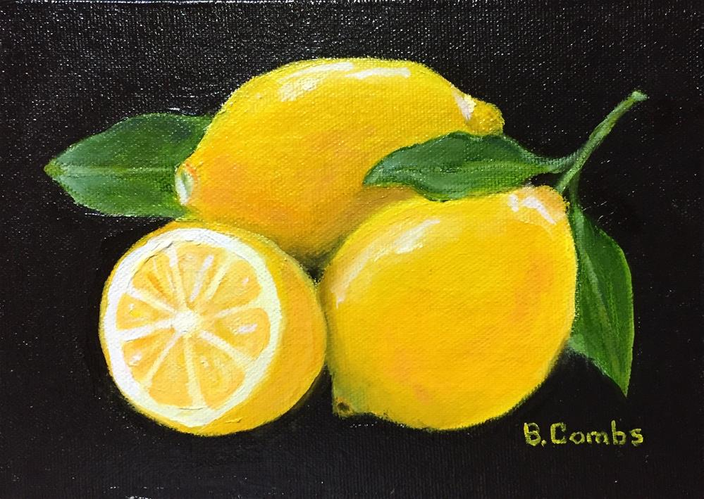"""Lemons"" original fine art by Bebe Combs"