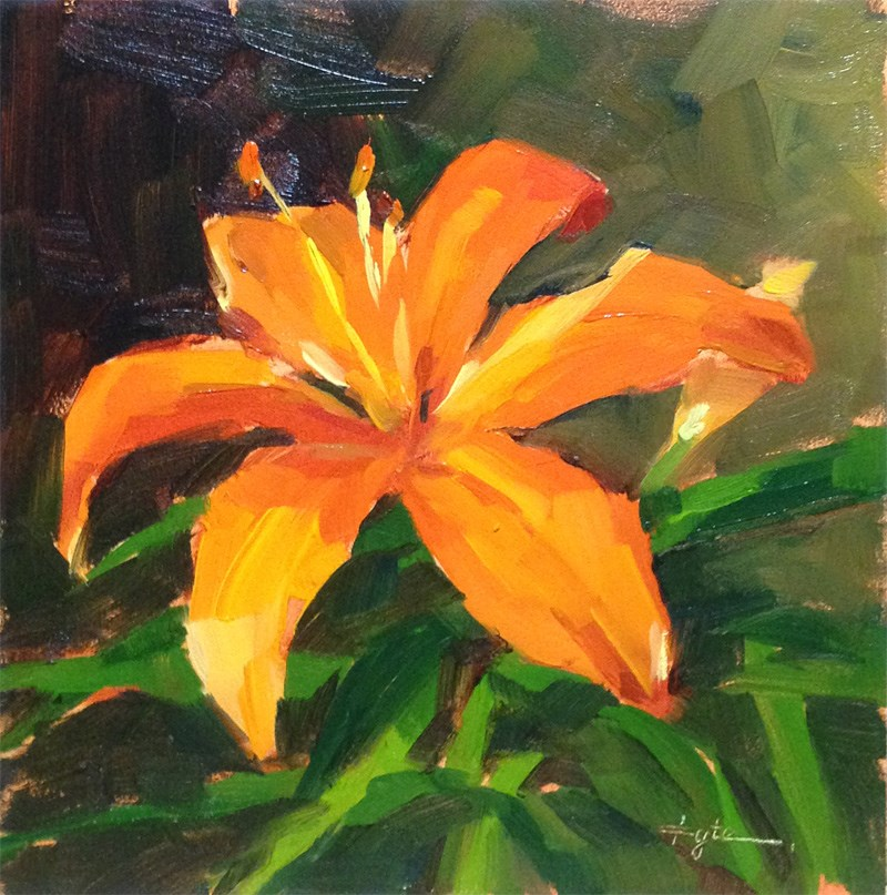 """Lily"" original fine art by Katia Kyte"