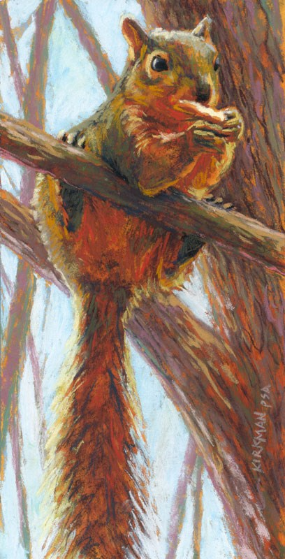 """Just Hangin' and Snackin'"" original fine art by Rita Kirkman"