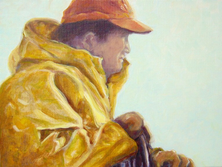 """Fisherman"" original fine art by J Kelsey"