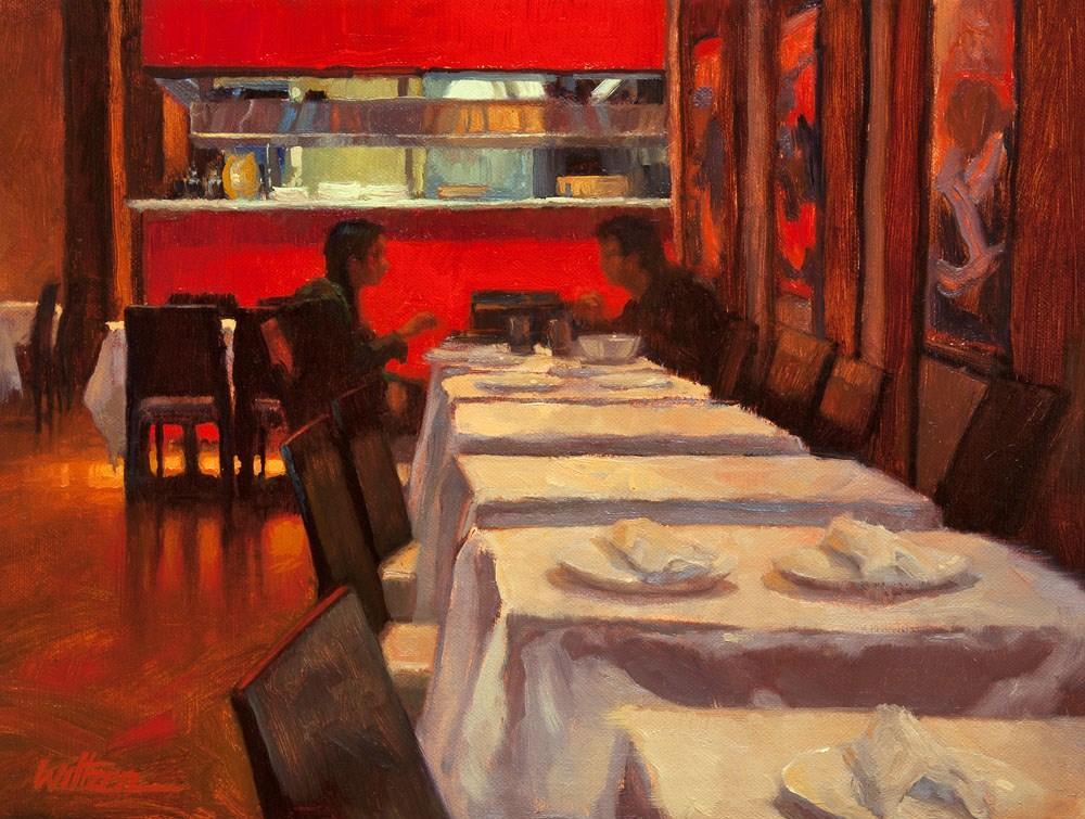 """Late Dinner"" original fine art by Liz Wiltzen"