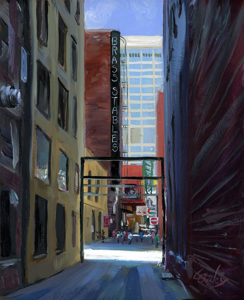 """Printer's Alley in Nashville"" original fine art by Chris Ousley"
