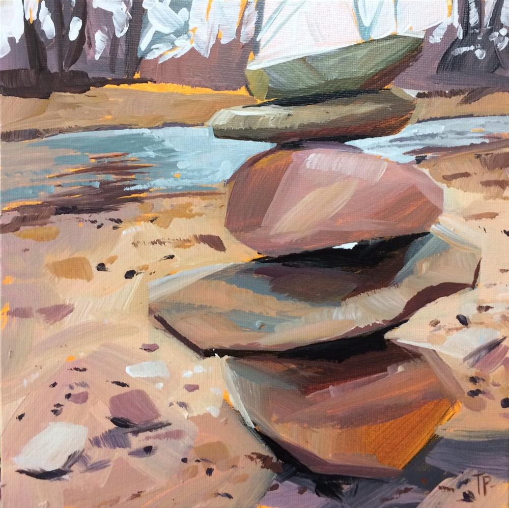 """Cairn"" original fine art by Teddi Parker"
