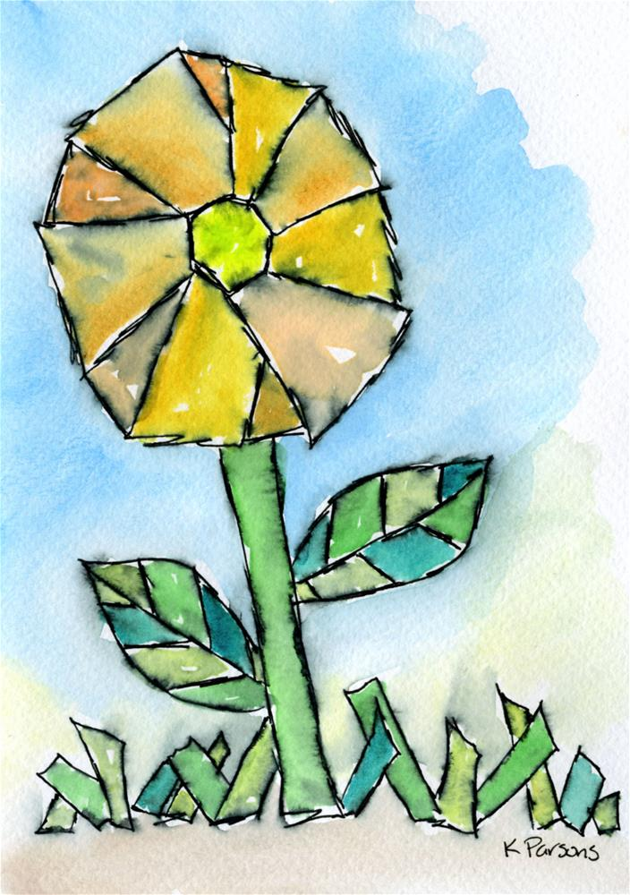 """Stained Glass Flower"" original fine art by Kali Parsons"