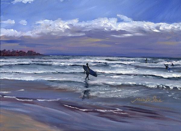 """Surfing"" original fine art by Mariko Irie"