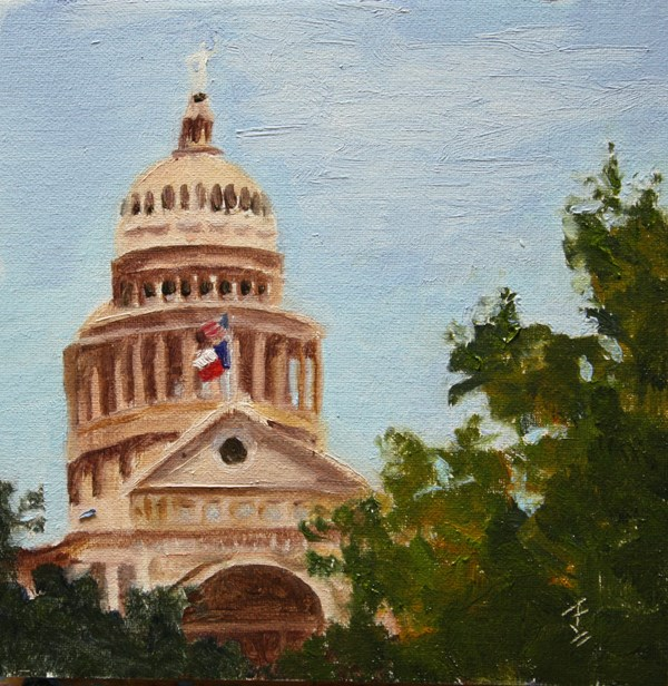 """Texas House"" original fine art by Jane Frederick"