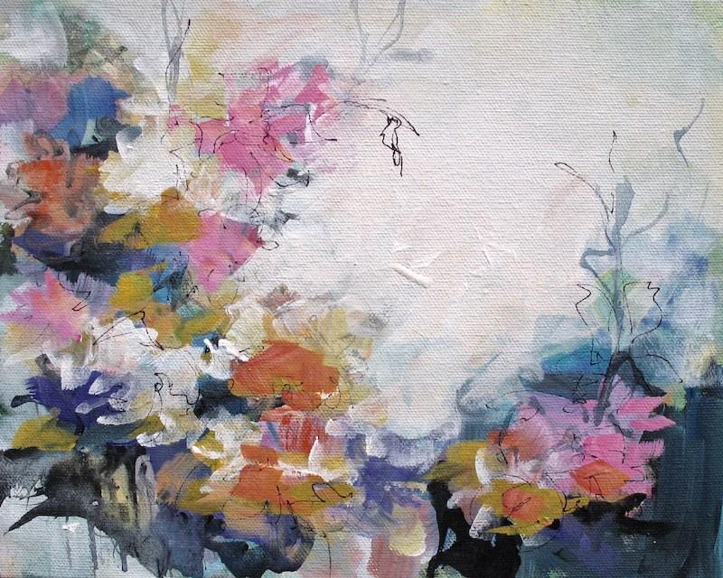 """""""Floral 3"""" original fine art by Karen Hale"""