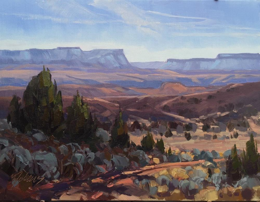 """Sunny Morning in Silver Reef, Ut"" original fine art by Mary Jabens"