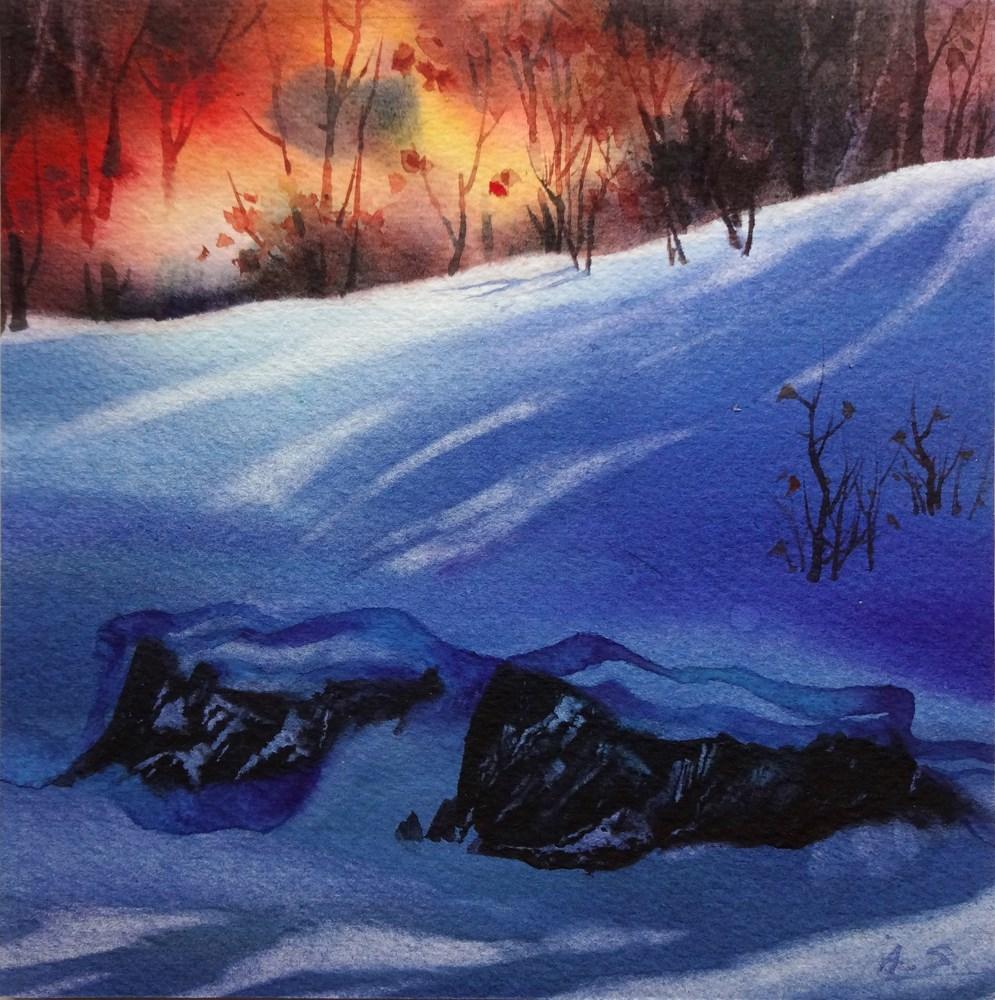 """""""Sudden Snow"""" original fine art by Arena Shawn"""