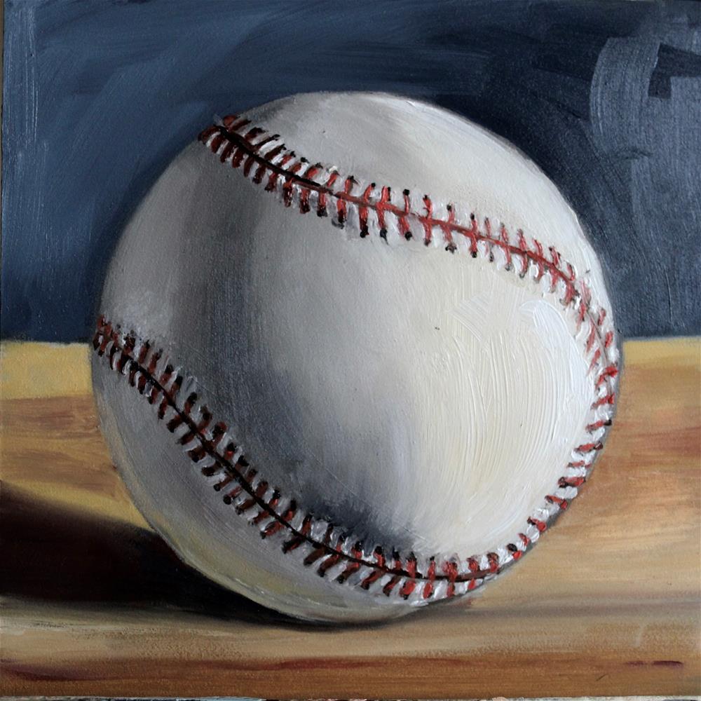 """My Baseball"" original fine art by Tamsen Armstrong"