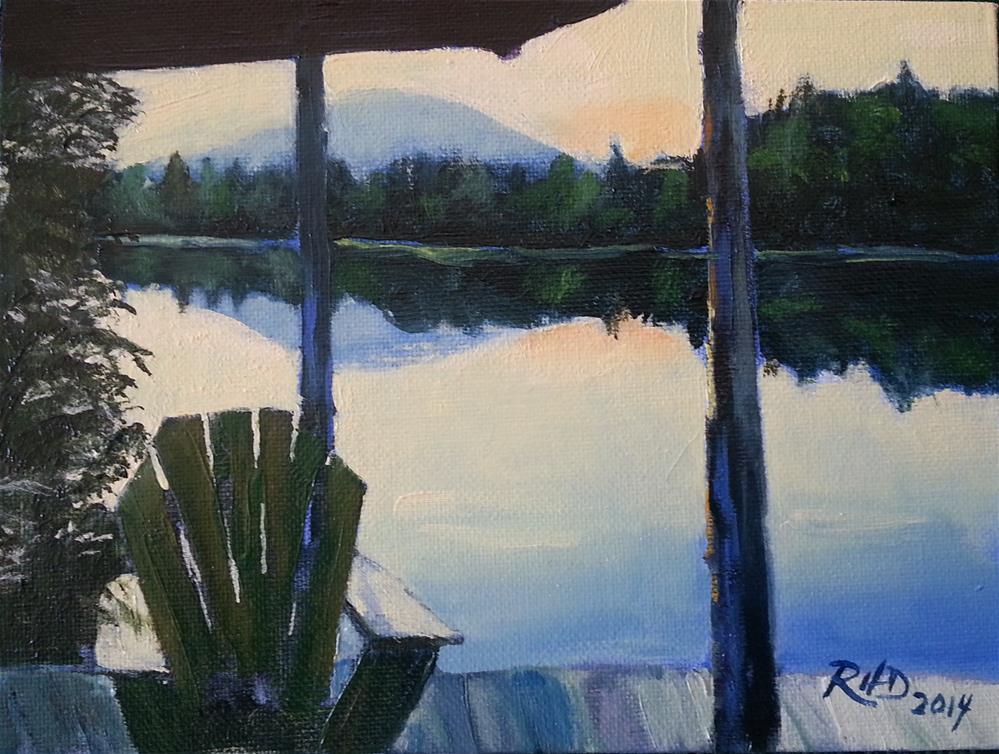 """Lake Placid Porch"" original fine art by Richard Doyle"
