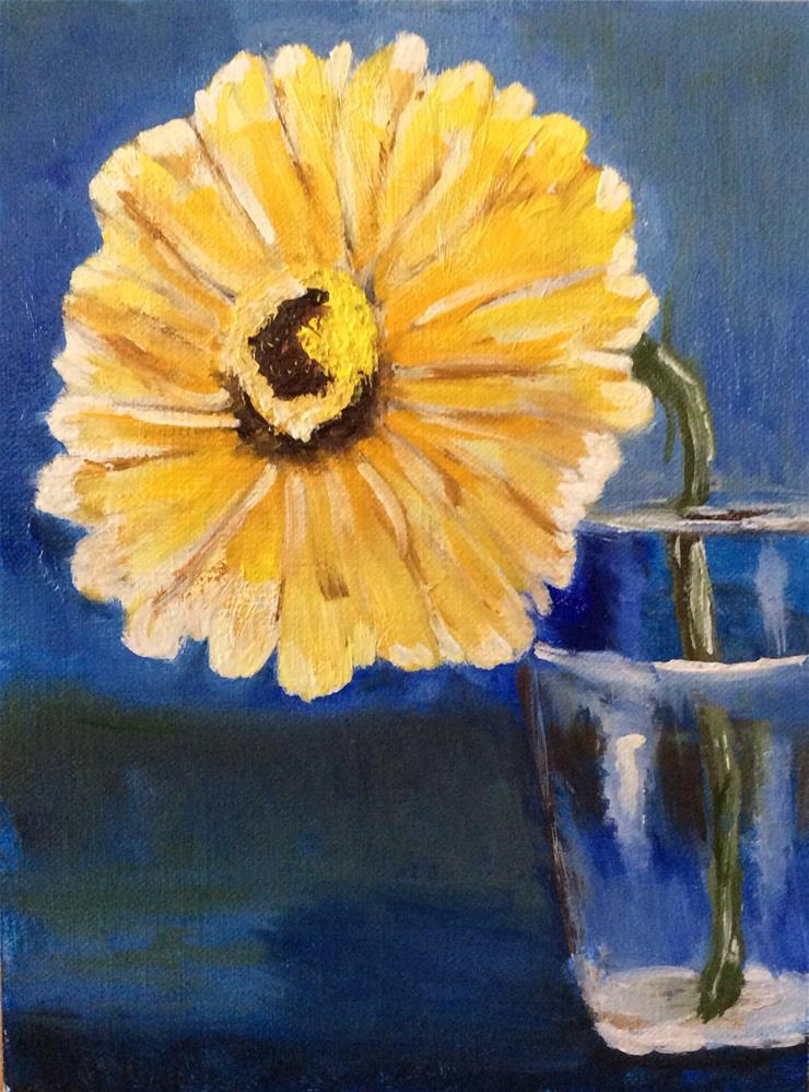 """Happy Little Flower"" original fine art by Charlotte Lough"