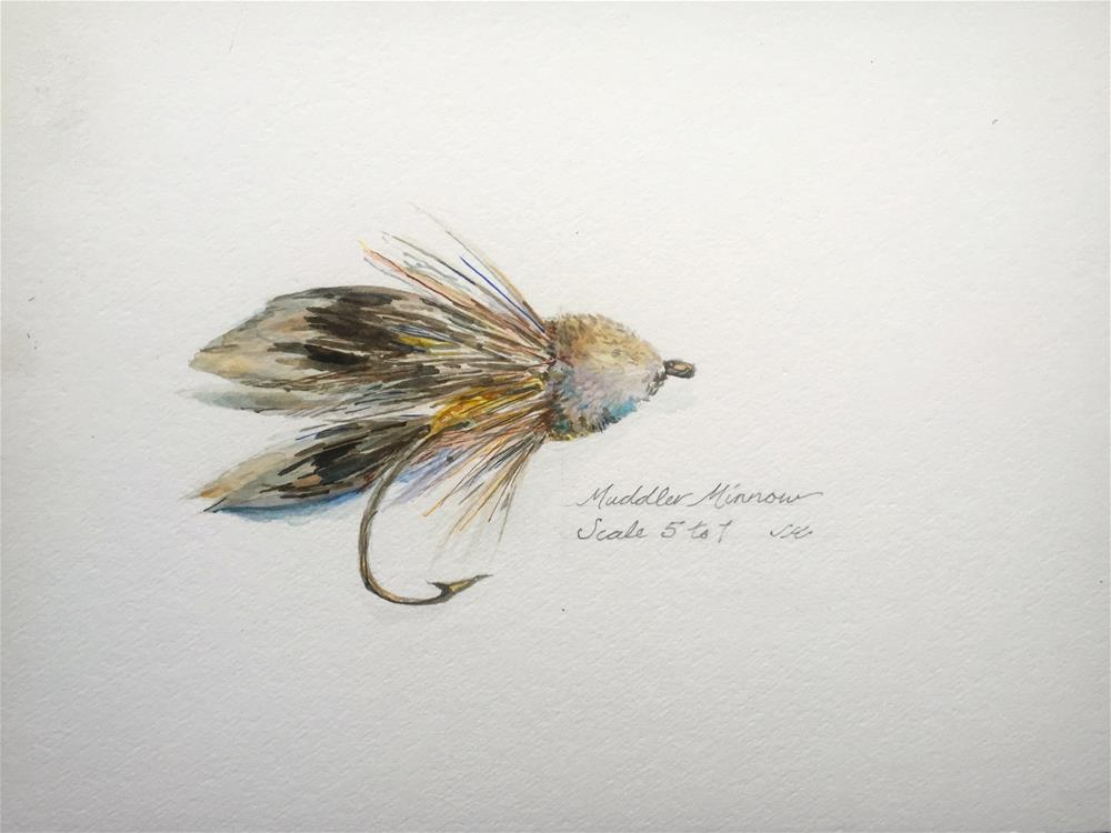 """Muddler Minnow"" original fine art by jean krueger"