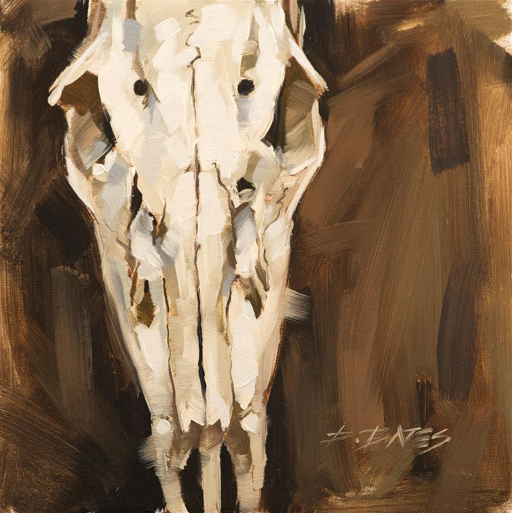 """Deer Skull"" original fine art by David Bates"