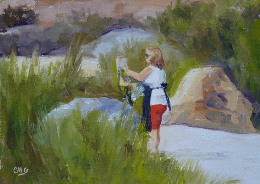 """Plein Air at the Back Bay"" original fine art by Cindy Greene"