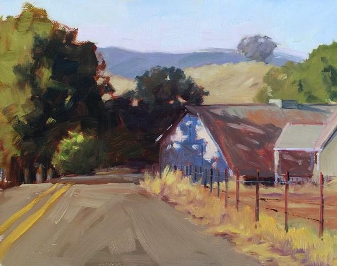 """""""Petaluma Barn"""" original fine art by Deborah Newman"""