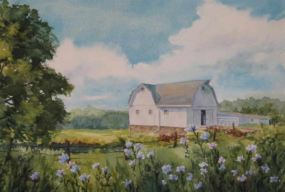 """Country Barn"" original fine art by Vikki Bouffard"