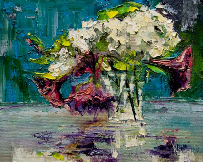 """ARTOUTWEST Still Life Floral art oil painting by Diane Whitehead"" original fine art by Diane Whitehead"