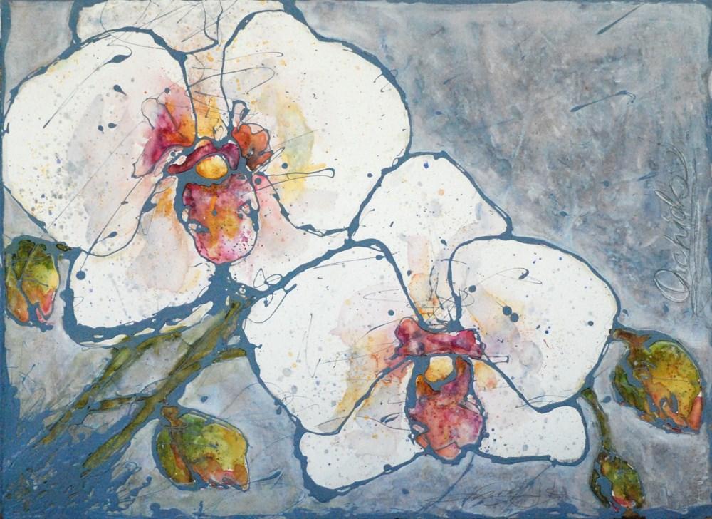 """orchids"" original fine art by Vicki Wood"