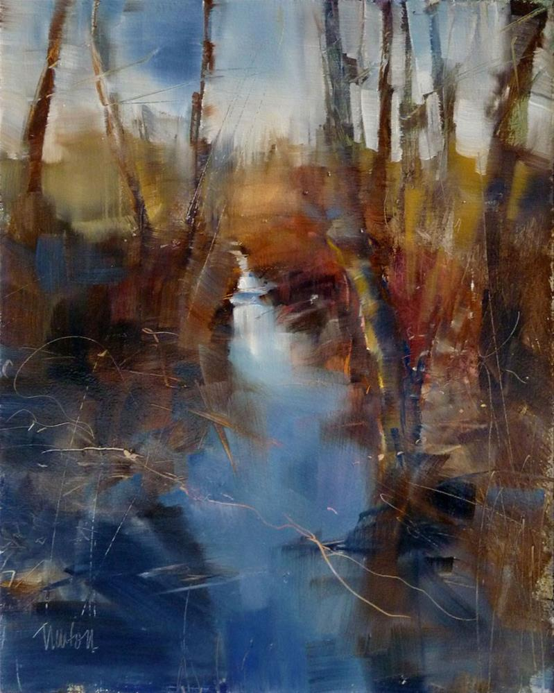 """Grinder Creek"" original fine art by Barbara Benedetti Newton"