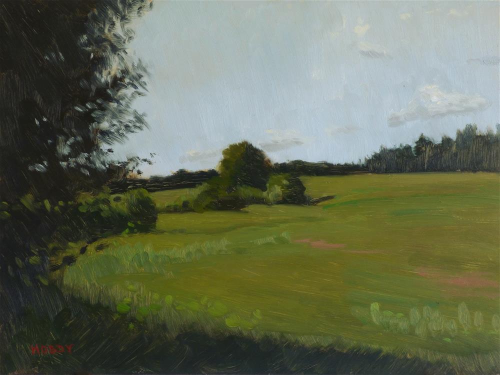 """Juntunen's Farm"" original fine art by Weston Hobdy"