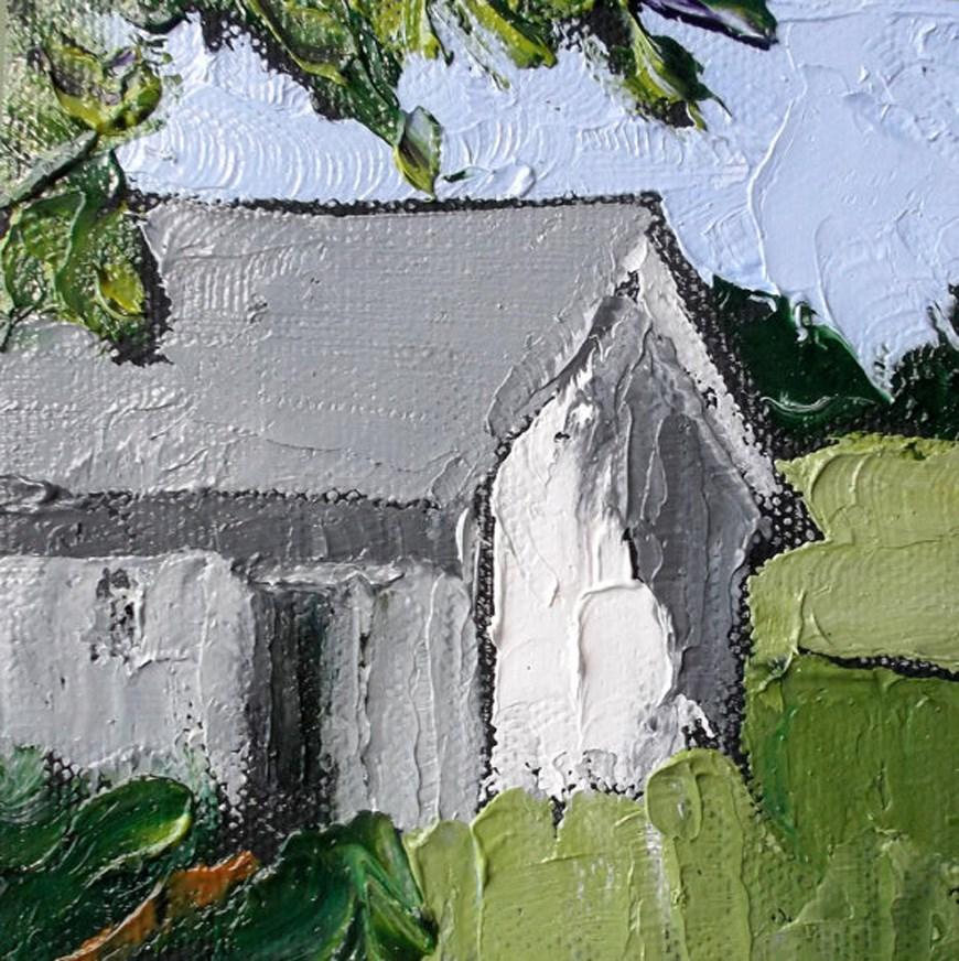 """""""Miniature Summer Farm"""" original fine art by lynne french"""