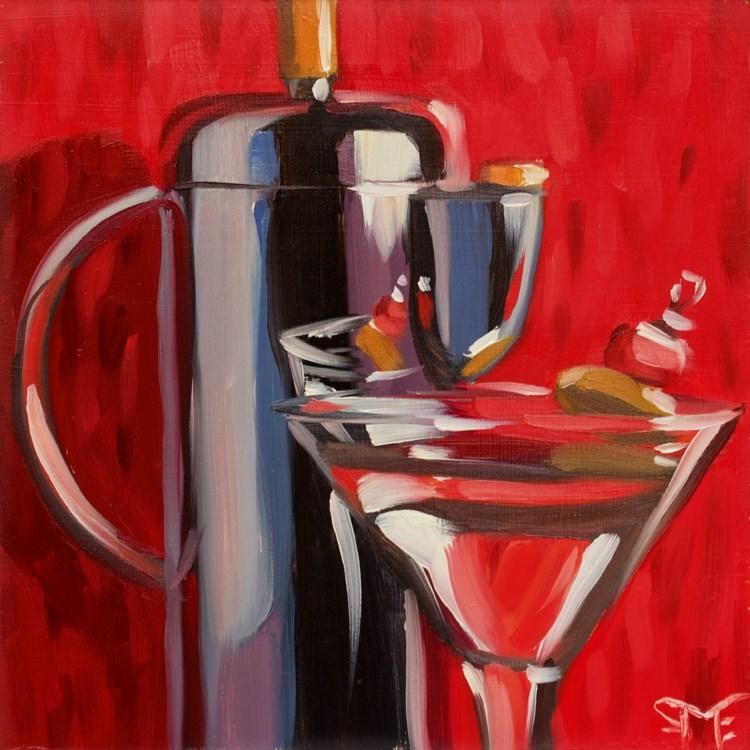 """""""Museum Martini"""" original fine art by Sheila Evans"""