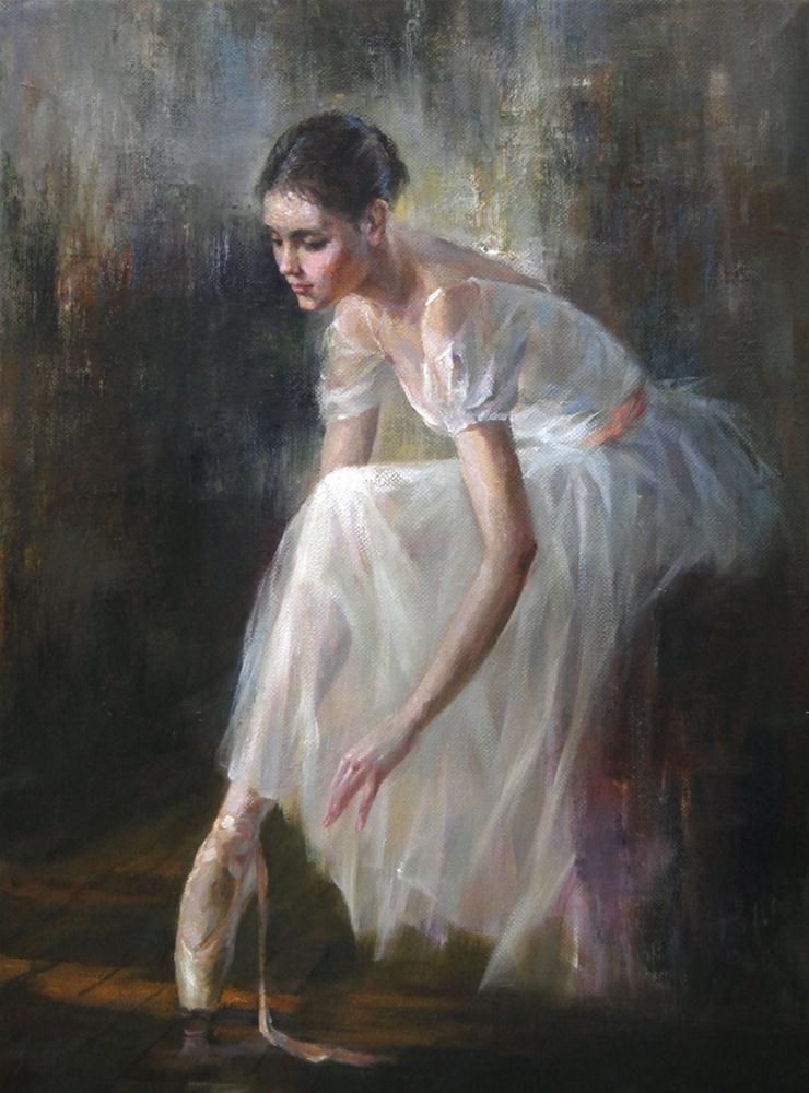 Ballerina (15) original fine art by Kelvin Lei