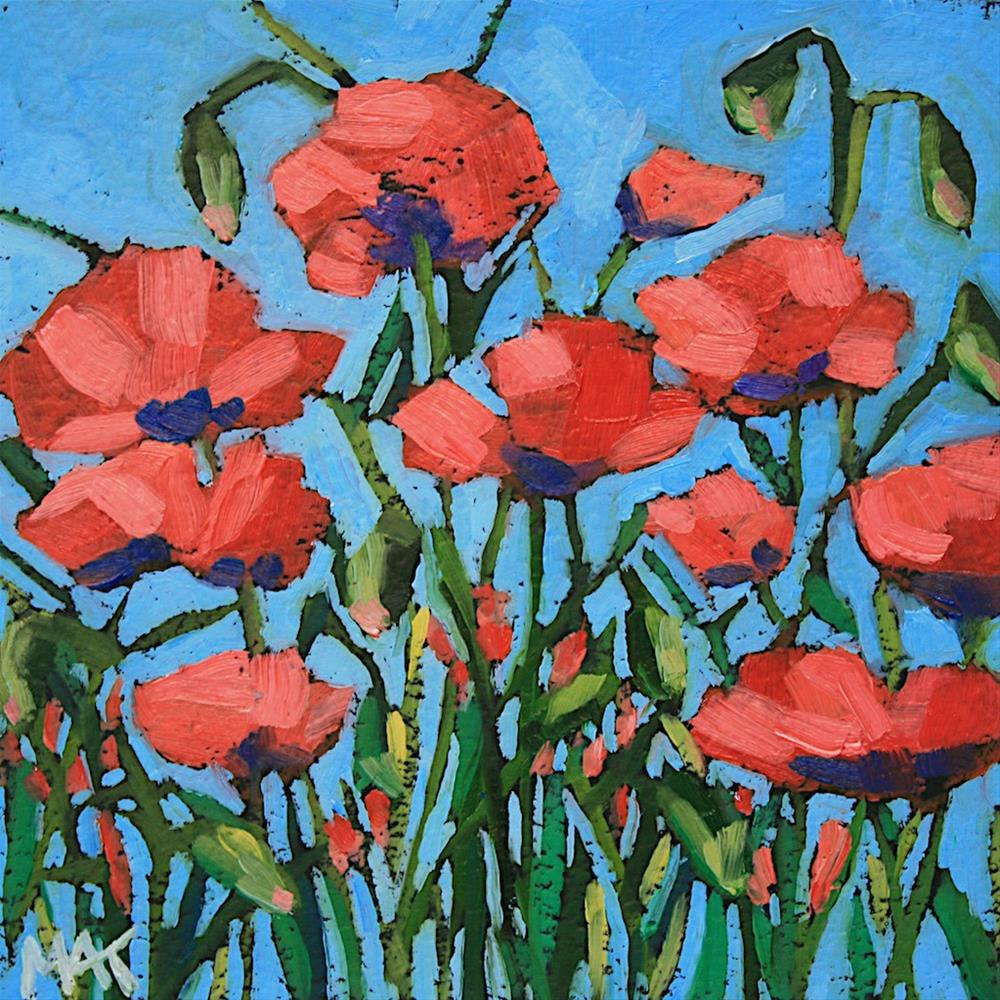 """Little Poppy"" original fine art by Mary Anne Cary"