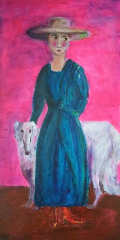 """Anita and Rudy"" original fine art by Hallie Dozier"