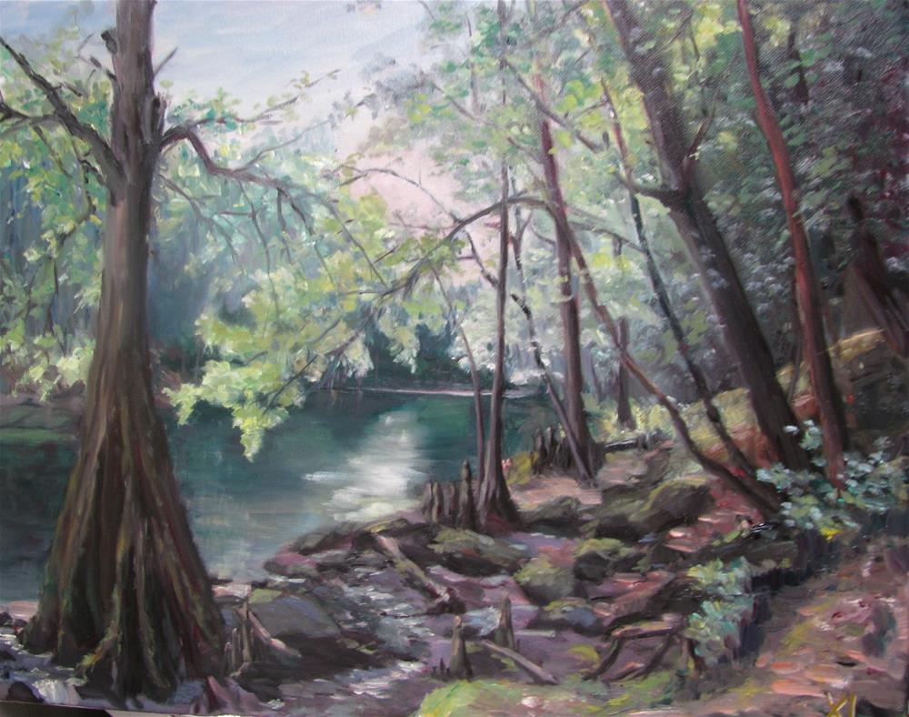 """""""O'Leno state park 2"""" original fine art by Xiao Li"""