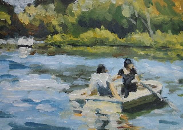 """Stow Lake"" original fine art by J. Farnsworth"
