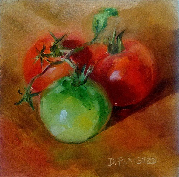 """One to Fry"" original fine art by Diane Plaisted"