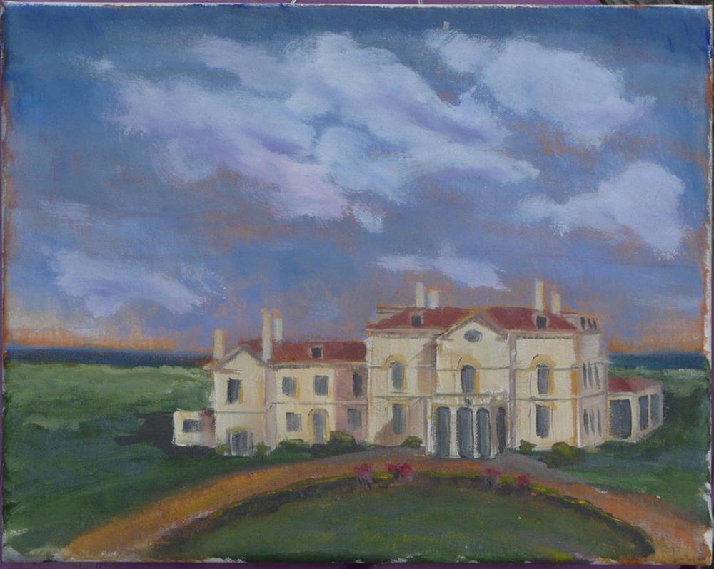 """""""Astor's Beechwood, Newport, Rhode Island"""" original fine art by Dave Gehman"""