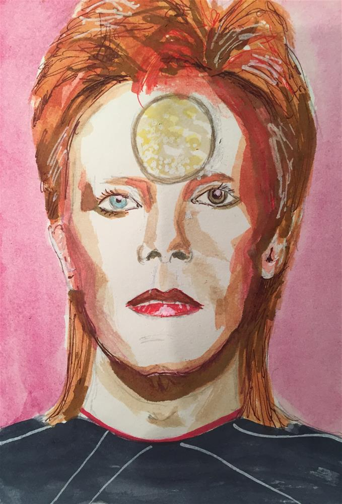 """DAVID BOWIE -Ziggy Stardust-"" original fine art by Ferran Llagostera"