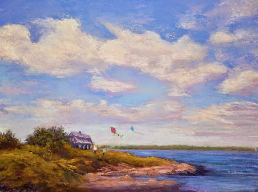 """Winds Up!"" original fine art by Sharon Lewis"