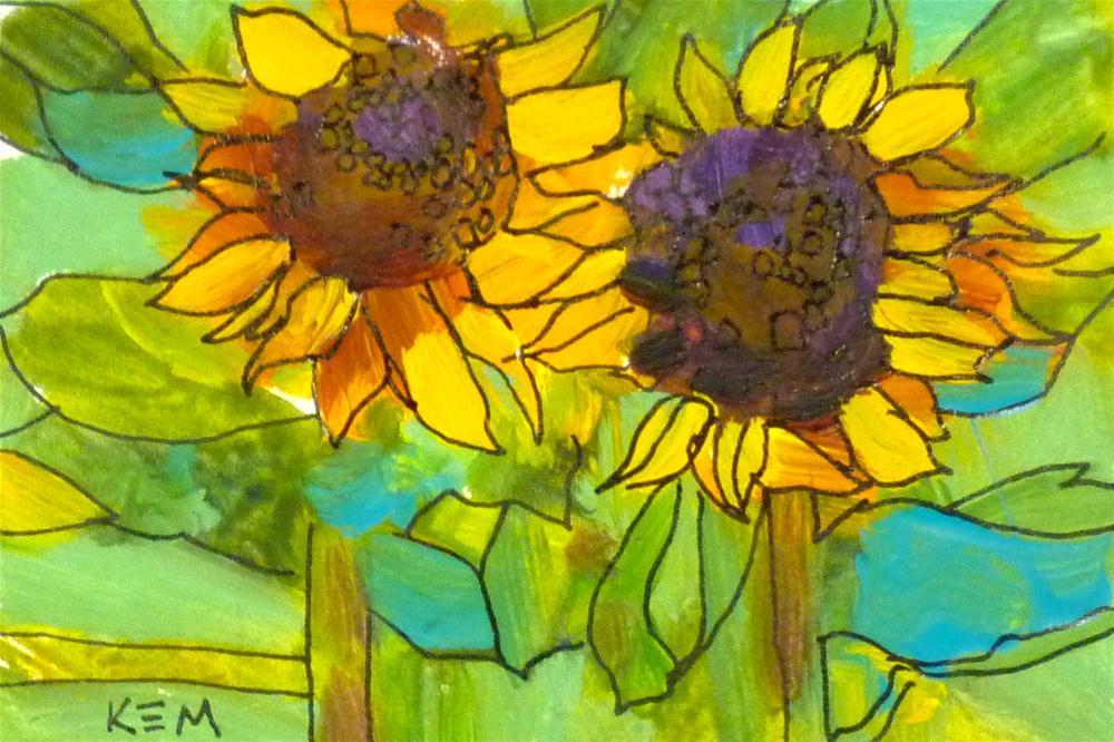 """Sunflower II"" original fine art by Karen Margulis"