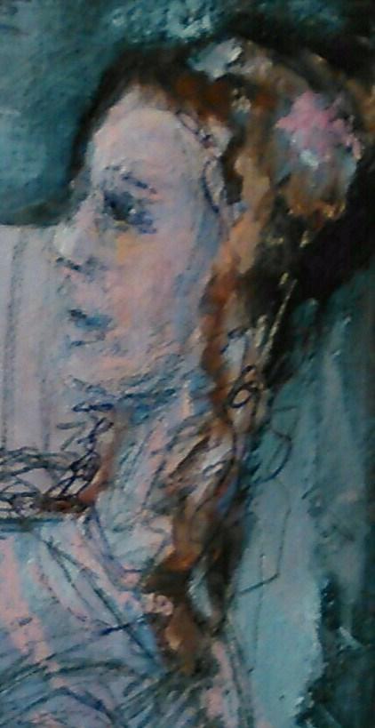 """Emerald Princess"" original fine art by Ann Rudd"