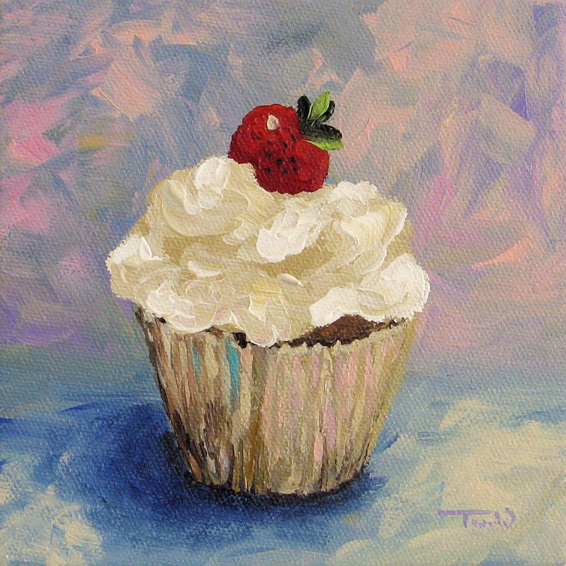 """Cupcake 001"" original fine art by Torrie Smiley"