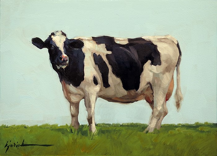 """Lincoln Highway/Dairy Cow, Pennsylvania"" original fine art by Karin Jurick"