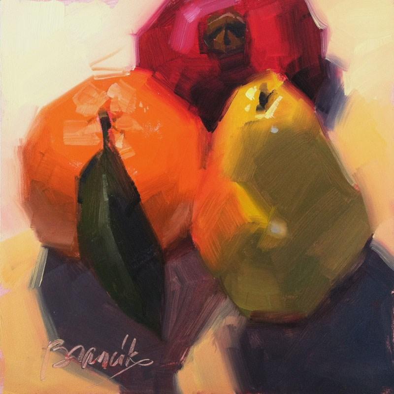 """Fruit Thanksgiving"" original fine art by Candace Brancik"