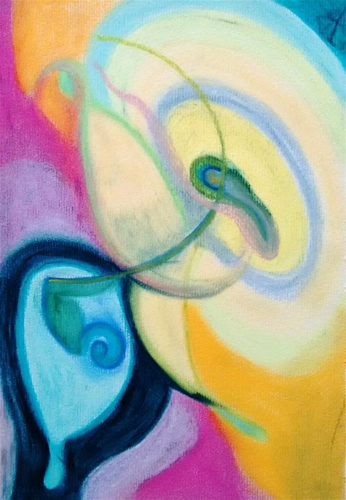 """Embryo Talking to Friend"" original fine art by Adéla Svobodová"